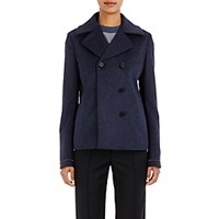 Paco Rabanne Women's Double Breasted Peacoat Navy