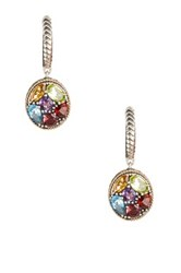 Effy Sterling Silver And 18K Yellow Gold Gemstone Drop Earrings Multi