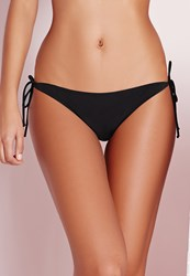 Missguided Tie Bikini Bottoms Black Mix And Match