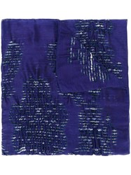 Armani Collezioni Embroidered Detail Scarf Pink And Purple