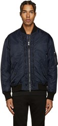 Diesel Black Gold Navy Aviator Bomber Jacket