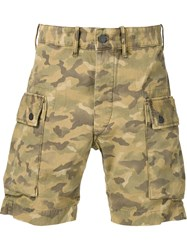 Rrl Camouflage Cargo Shorts Green