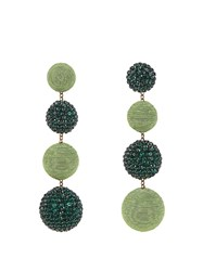 Rebecca De Ravenel Les Bonbons Nova Earrings Green Multi