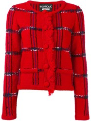Boutique Moschino Tweed Jacket Red