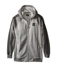 Adidas Skateboarding As Hooded Track Jacket Medium Grey Heather Core Heather Men's Coat Gray