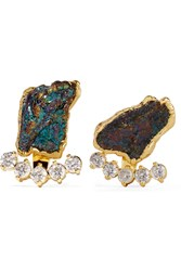 Dara Ettinger Gold Tone Kyanite Earrings Metallic