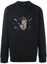 Lanvin Embroidered Hand Sweatshirt Black