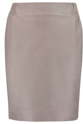 Golden Goose Jade Leather Mini Skirt Gray