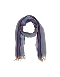 Jil Sander Accessories Oblong Scarves Men Slate Blue