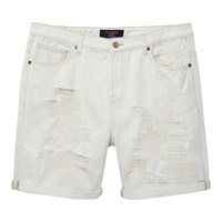 Violeta By Mango Denim Shorts White