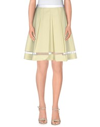 Axara Paris Skirts Knee Length Skirts Women Light Green