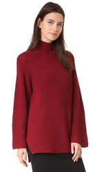 Designers Remix Vato Turtleneck Sweater Burgundy
