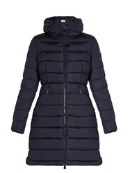 Moncler Flammette Quilted Down Coat Navy