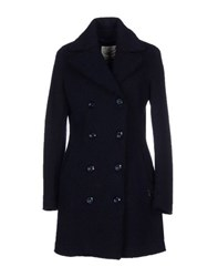 Maison Espin Coats And Jackets Coats Women Dark Blue
