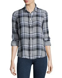Current Elliott The Slim Boy Shirt Sugar Siesta Plaid Size 3 Sugar Siesta Plai