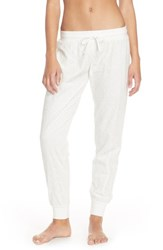 Women's Make Model Lace Jogger Pants Ivory Pristine