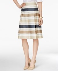 Charter Club Striped Pleated A Line Skirt Only At Macy's