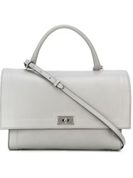 Givenchy Medium 'Shark' Tote Grey