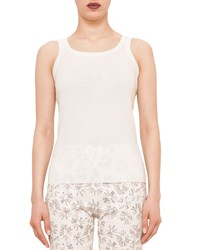 Akris Punto Knitted Wool Tank Cream Ivory Size 8