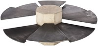 James De Wulf Steel Fan Coffee Table
