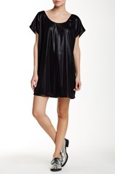American Apparel Metallic Jersey Short Sleeve Tunic Black