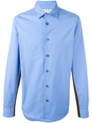 Marni Side Stripe Shirt Blue