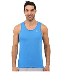 Nike Dri Fit Cool Tailwind Running Singlet Light Photo Blue Light Photo Blue Reflective Silver Men's Workout