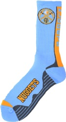 For Bare Feet Denver Nuggets Team Vortex Crew Socks Black Blue