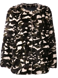 Jocelyn 'Taj' Camouflage Short Coat Black