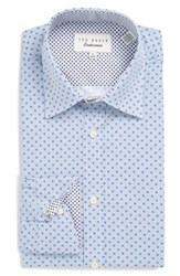 Ted Baker Men's Big And Tall London 'Byrne' Trim Fit Dress Shirt Blue