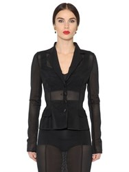 Dolce And Gabbana Sheer Stretch Mesh Jacket