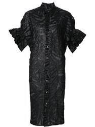 Junya Watanabe Comme Des Gara Ons Puff Sleeve Shirt Dress Black
