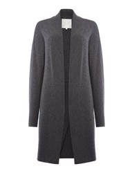 Part Two Simple Yet Stylish Cardigan Crafted From A Soft C Grey Marl