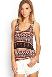 Forever 21 Knit Tribal Print Tank