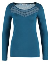 Naf Naf Piaui Long Sleeved Top Fougere Blue
