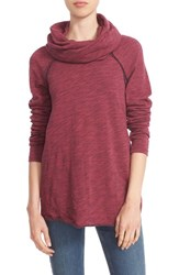 Women's Free People 'Beach Cocoon' Cowl Neck Pullover Wine