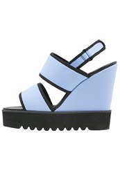 Buffalo Wedge Sandals Blue Light Blue