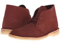 Clarks Desert Boot Terracotta Suede Men's Lace Up Boots Red