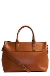 Lodis 'Audrey Wilhelmina' Leather Work Satchel Brown Toffee