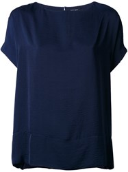 Roberto Collina Wide Blouse Blue