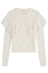 Philosophy Di Lorenzo Serafini Ruffled Pullover With Mohair White