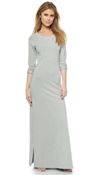 Haute Hippie Sweatshirt Maxi Dress Light Heather Grey