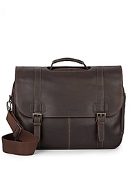 Kenneth Cole Columbian Leather Messenger Bag Brown