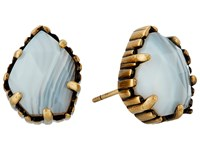Kendra Scott Tessa Earring Antique Brass White Banded Agate Earring Gold