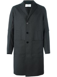 Oamc Single Breasted Coat Grey