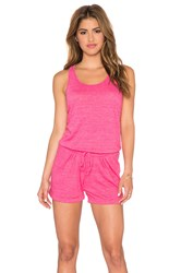 Candc California Sleeveless Romper Pink