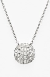 Women's Dana Rebecca Designs 'Lauren Joy' Diamond Disc Pendant Necklace White Gold