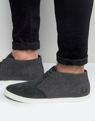 Fred Perry Byron Mid Wool Suede Chukka Boots Grey