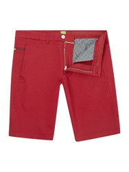 Hugo Boss Liem 2 2 W Slim Fit Satin Stretch Shorts Red
