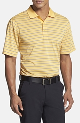 Cutter And Buck 'Camber Stripe' Drytec Polo Yellow Honor
